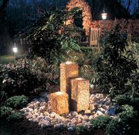 Natursteine dekorbrunnen gartenteich for Folie steindekor
